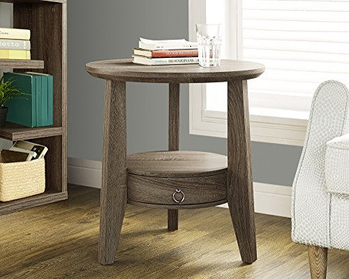 Cheap Monarch Specialties Dark Taupe Reclaimed-Look Accent Table/1 Drawer, 23-Inch