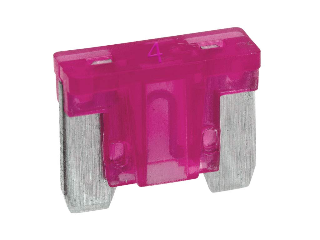 Boltstore Micro Blade Fuses Low Profile Mini Fuses12v Volt Car - 4A Pink 20 Fuses