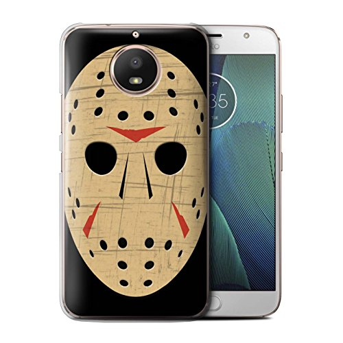 STUFF4 Phone Case/Cover for Motorola Moto E4 2017 / Jason Vorhees Mask Inspired Design/Horror Movie Art Collection]()
