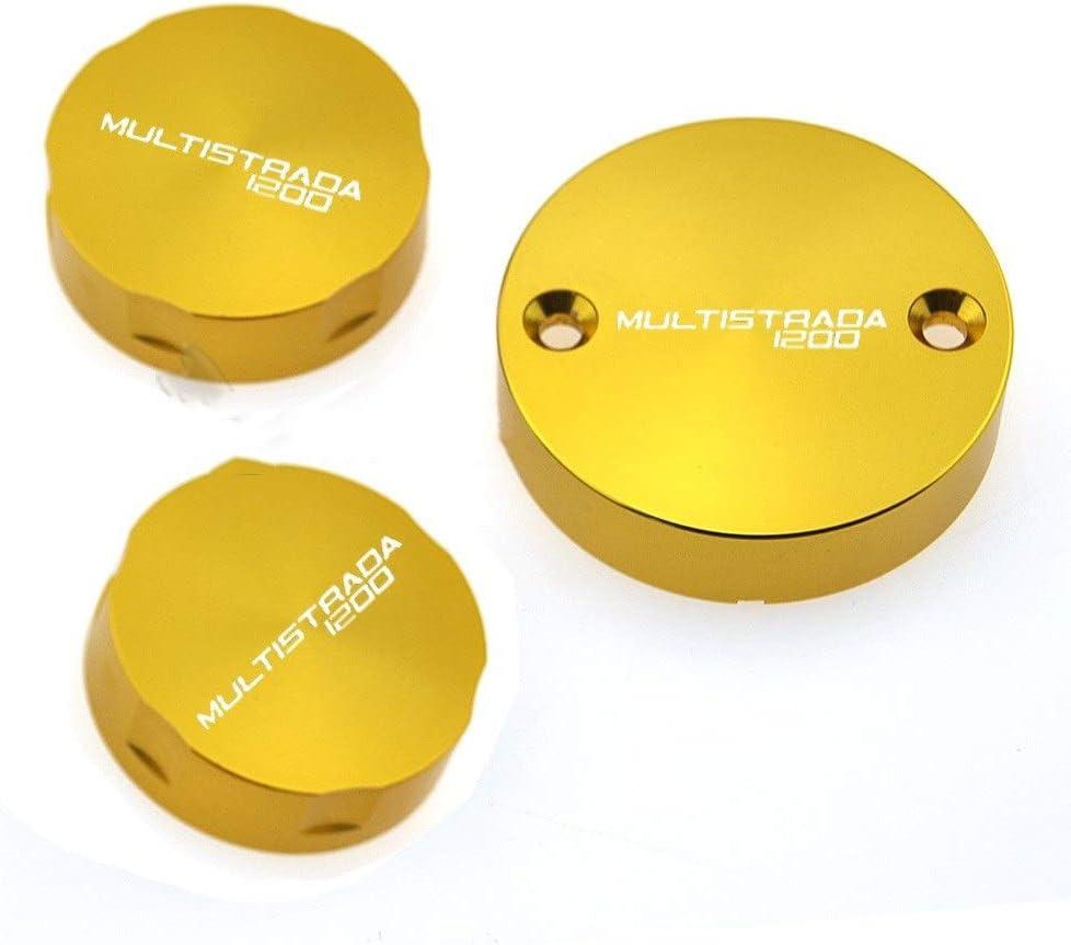 S 2010-2017 Color : Golden BGGZZG Aceite Cilindro de Freno Delantero del dep/ósito de la Motocicleta de la Cubierta Principal del Fluido Cap//Ajuste for Ducati//Ajuste for Multistrada 1200
