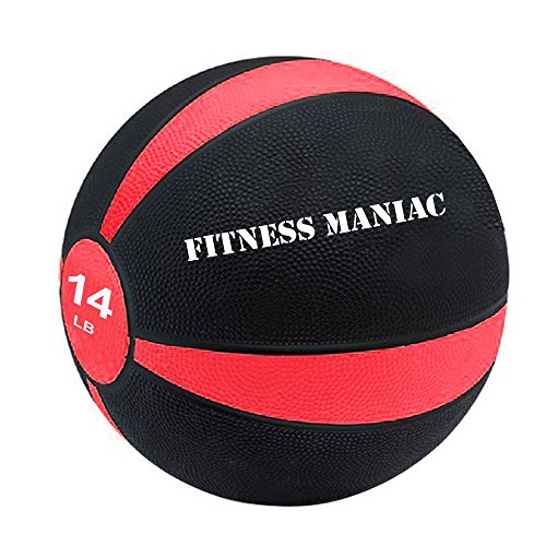 Fitness Maniac Medicine Ball Fitness Muscle Full Body Workout 14 lb