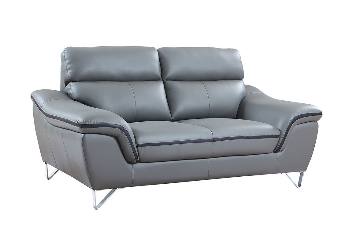 Amazon.com: Blackjack Furniture 168-GRAY-L Leather Match ...