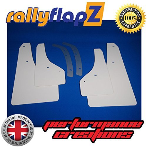 White 4mm Flexible PVC rallyflapZ//Set of 4 Custom Made Mud Flaps Mudflaps Mud Guards Including Fixing Hardware /& Instructions RFGTCVXR-W