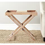 Safavieh AMH6624B American Homes Collection Leo Accent Table, Red Maple Review