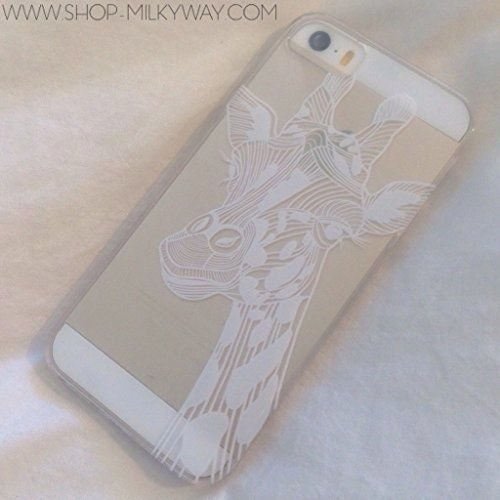 Plastic Case Cover for iPhone 5 5S 5C 6 6Plus Henna Giraffe animal print tiger ()