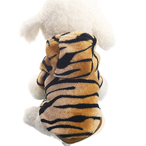 Pet Shirt,Haoricu Winter Autumn Flannel Leopard Warm Pet For Small Dogs Cat Clothes Puppy Costume (L, (Cat Dog Halloween)
