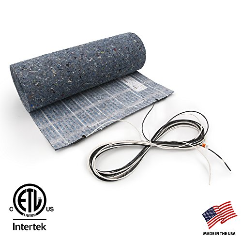 Electric Floor Mat (7.5 sq. ft, 120V. Floor Heat Mat for Laminate and Engineered Wood Floor Heating (1.5 ft. x 5 ft.) ThermoFloor Model TF1505-120 - Other Sizes Available)