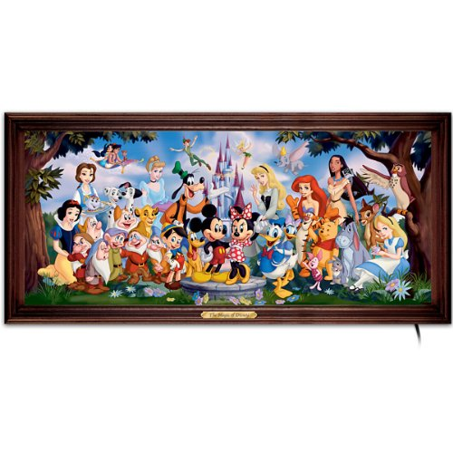 The Bradford Exchange The Magic of Disney Stained-Glass Panorama: Wall Decor ()