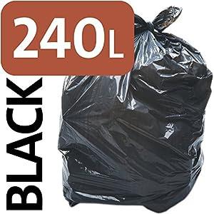Alina, sacchetto nero, resistente, da 240 litri per bidone della spazzatura con ruote, sacco compattatore di rifiuti… 51HEBLcSnUL. SS300