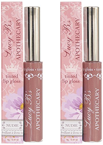 Lucy B's Tinted Gloss Balm Duo, Nudie & Nudie, 0.6 Ounce (Gloss Duo Pack)