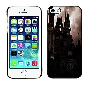 TopCaseStore / la caja del caucho duro de la cubierta de protección de la piel - Spooky Night Dracula Vampire - Apple iPhone 5 / 5S