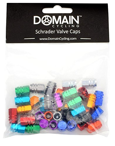 Domain Cycling 40pcs Schrader Tire Valve Caps, Hex Design Multi-Color Anodized Machined Aluminum Alloy Bicycle Bike Tire Valve Caps Dust Covers by Domain Cycling (Image #5)