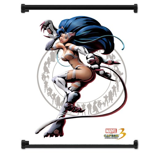 Marvel Vs Capcom 3 Felicia Game Fabric Wall Scroll Poster (16x21) Inches ()