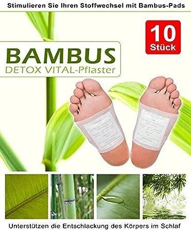 10 Bambus Vital Pads Fusspflaster Detox Energiepflaster Entschlacken