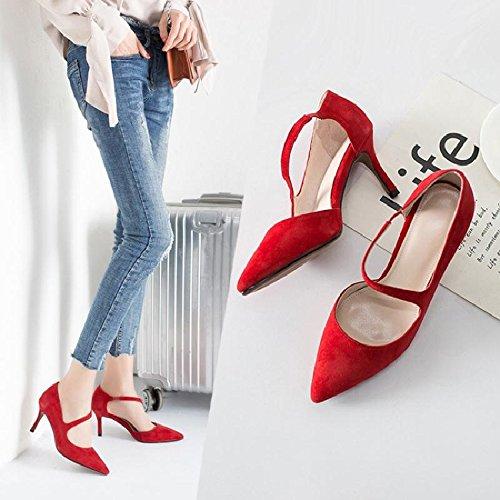 primavera per Le di scarpe in punta cinghia scarpe donne donne donne scarpe donne per per rouge Scarpe per donna luce della GAOLIM Attacco da con Givrée Scarpe fine q01FY