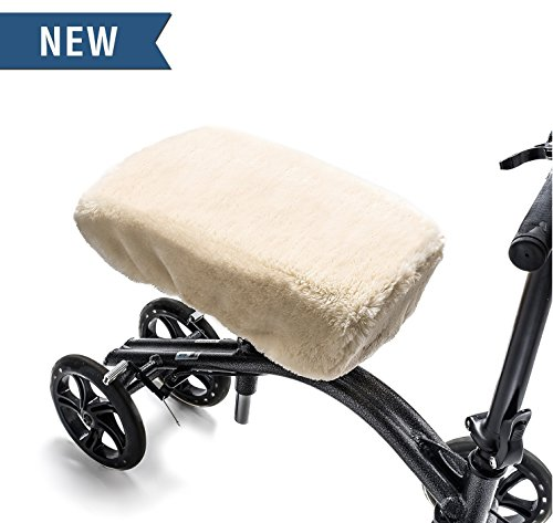 Knee Walker Pad Premium Foam Cover by GLI - High Quality Plush Faux Sheepskin Cushion for Rolling Scooter - Gives Extra Comfort While Recovering from Leg Injury (Get Well Gift Baskets Post Surgery)