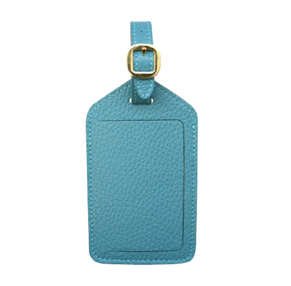 Teal Colorado Collection Genuine Leather Travel Luggage Tags – Made in USA by Real Leather Creations - Factory Direct Gift Box FBA670 by Real Leather Creations (Image #1)