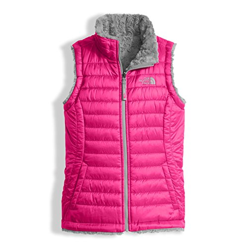 The North Face Girl's Reversible Mossbud Swirl Vest - Petticoat Pink - L (Past Season) -