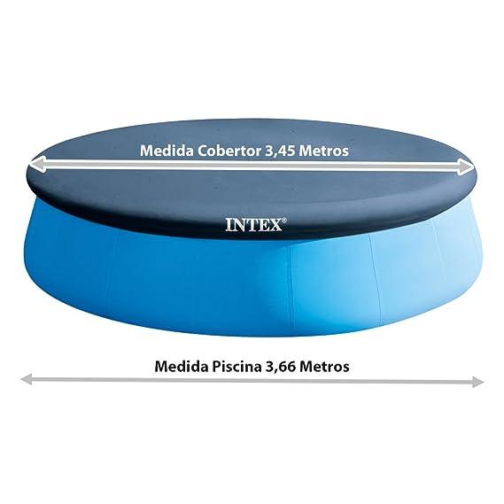 Intex 28022 - Cobertor piscina hinchable Easy Set 366 cm