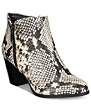 Style & Co. Womens Jamila Zip Snow Booties Black/White Snake