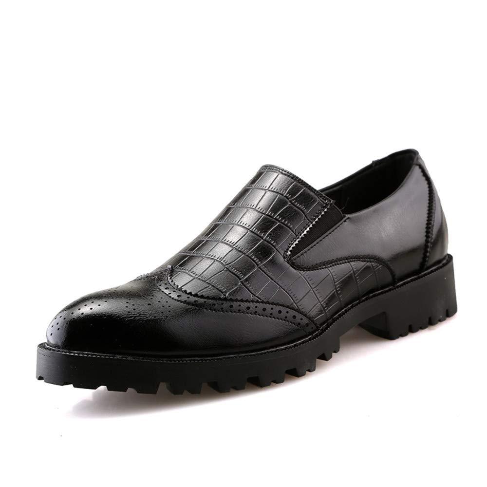 Zapatos Oxford Brogue de Punta Estrecha Antideslizante a Prueba de Deslizamiento de Oxford para Hombre de Negocios Ocasionales de los Hombres 37 EU|Negro