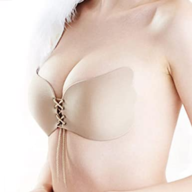 810deab2732ba URPLITY Women s All Size A to J Self Adhesive Backless Invisible Silicone  Push up Strapless Stick