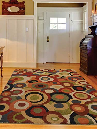 Rugsotic Carpets Hand Tufted Woolen 4'x6' Area Rug Abstract Multicolor K11125850 from Rugsotic Carpets