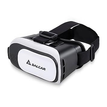 113c544672e08 SALCAR Lunettes 3D réglable VR Casque de réalité virtuelle 3D Film et Jeux  Vidéo Compatible avec