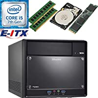 Shuttle SH110R4 Intel Core i5-7400 (Kaby Lake) XPC Cube System , 8GB Dual Channel DDR4, 240GB M.2 SSD, 2TB HDD, DVD RW, WiFi, Bluetooth, Pre-Assembled and Tested by E-ITX