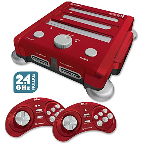 Hyperkin Retron 3 Video Game System for NES/SNES/GENESIS - Red (Combo Composite Video)