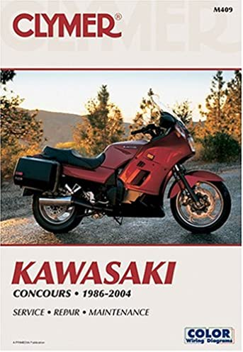 clymer kawasaki concours 1986 2004 clymer publications rh amazon com 2009 kawasaki concours owners manual 2009 Concours Body Kit