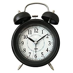 Twin Bell Alarm Clock w/LED backlight