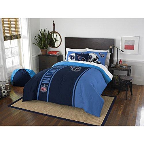 (Tennessee Titans Comforter Set Bedding Shams NFL 3 Piece Full Size 1 Comforter 2 Shams Football Linen Applique Bedroom Decor Imported Sold byMBG.4u.)