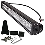 STANSEN 180W 32in Off Road LED Work light Bar For Jeep off road Van Camper Wagon ATV AWD SUV 4WD 4x4 Pickup Van Off-road h-series (180W-B)