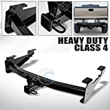 HS Power Black Finished Class 4 Trailer Hitch Receiver Rear Bumper Tow 2' for 2001-2010 Chevy Silverado 2500 HD / 3500/3500 HD
