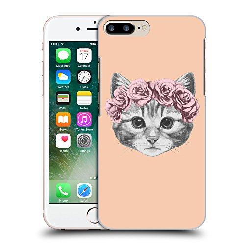 GoGoMobile Coque de Protection TPU Silicone Case pour // Q05020604 Fleur chat Abricot // Apple iPhone 7 PLUS