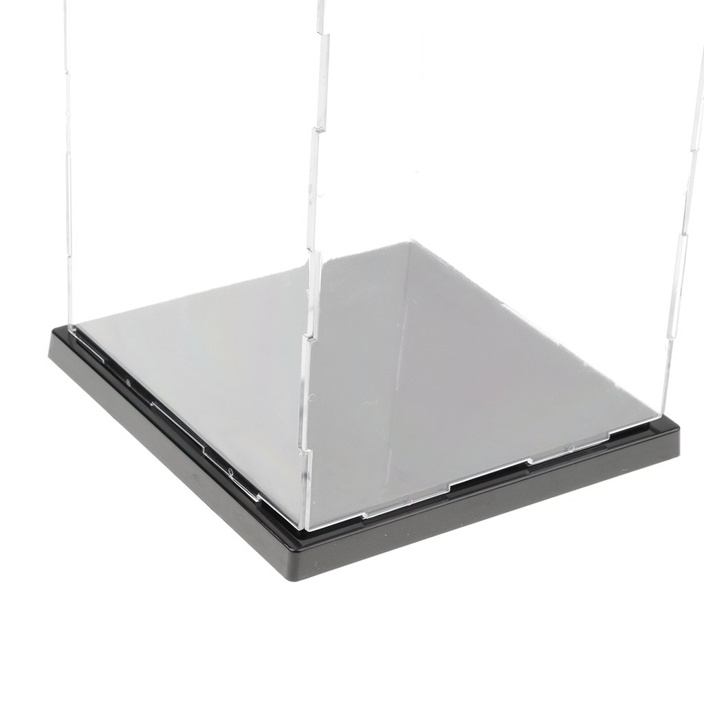 perfeclan Exposici/ón en Vitrina Modelo 3D a Prueba de Polvo Transparente Figuras Colecci/ón Anime Pl/ástico Acr/ílico 13x13x21cm