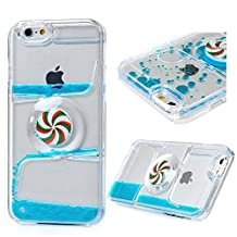 iPhone 6s plus case,iphone 6 plus case, liujie Liquid Cool Quicksand Moving Stars Bling Glitter Floating Dynamic Flowing Case Liquid Cover for Iphone 6s plus 5.5inch (SL blue)
