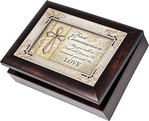 【税込?送料無料】 First B07G2QGBJG Communion Cottage Garden Italian Style Burlwood Finish - Grace with Decorative Inlay Jewelry Music Box - Plays Song Amazing Grace [並行輸入品] B07G2QGBJG, BA select【ビーエーセレクト】:ed290319 --- arcego.dominiotemporario.com