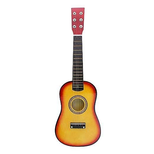6 opinioni per Andoer®- Mini chitarra da 58 cm in legno di tiglio con corde per bambini, con