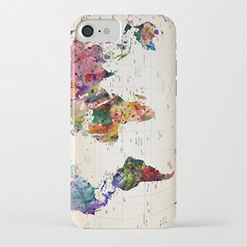 Funda iPhone 7 Funda iPhone 8 Premium TPU Impresión Concha Suave Ultra Slim / Resistente a los Arañazos Flexible Bumper Phone Case Cover [Ultra-delgado] Protectora Caja del Teléfono para Apple iPhone  Mapa del mundo