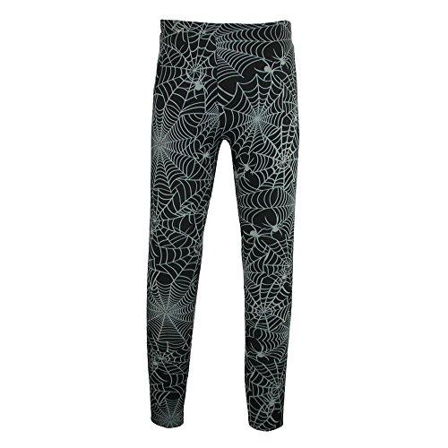 Plus Size Halloween Tights (Just One Women's Plus Size Spider Web Halloween Leggings, 2X, Black)