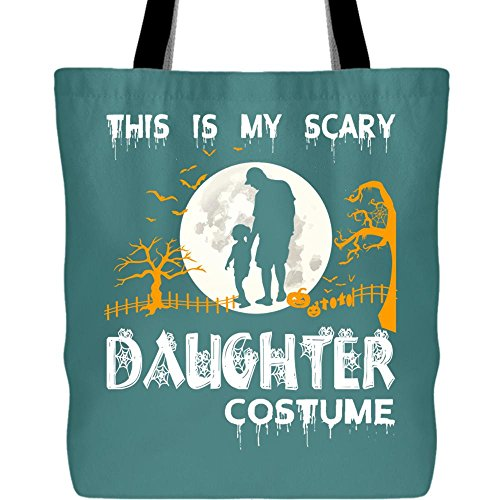 My Scary Daughter Costume Tote Bags, I Love Halloween Canvas Tote Bags (Tote Bags - Green Pistachio)