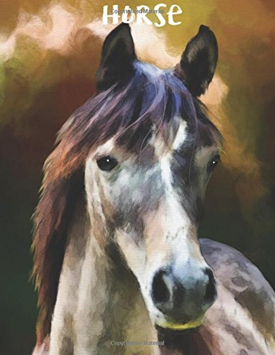Read Online Horse: Horse Notebook (Composition Book Journal) (8.5 x 11 Large) (110 Pages) PDF