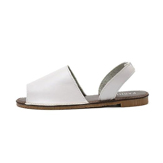 Zilosconcy Sandalias De Las Mujeres, Mujeres Pescado Boca Zapatilla Zapatos Parte Inferior Plana Alto Antideslizante Palabra Fondo Blando Abierto Dedo del ...
