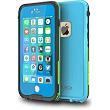 "CellEver iPhone 6 / 6s Case Waterproof Shockproof IP68 Certified SandProof SnowProof Full Body Protective Cover Fits Apple iPhone 6 and iPhone 6s (4.7"") - Sky Blue / Lime Green"
