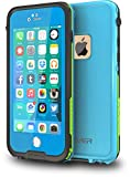 CellEver iPhone 6 Plus / 6s Plus Case Waterproof Shockproof IP68 Certified SandProof Snowproof Diving Full Body Protective Cover Fits Apple iPhone 6 Plus and 6s Plus (5.5') - Sky Blue/Lime Green