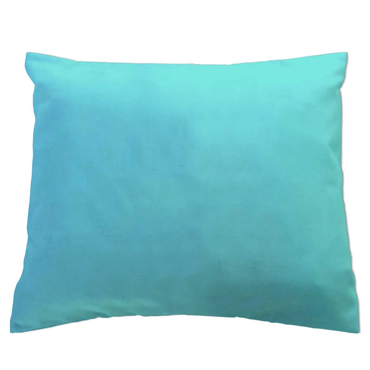 SheetWorld - Baby Pillow Case - Percale Pillow Case - Light Solids - Aqua - Made In USA by SHEETWORLD.COM