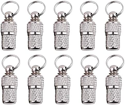 Stainless Steel Pets Address Name Label Collar Pets Puppy ID Tube Cluos 10 Pack Anti-Lost Pet Dog Cat ID Tag Barrel Tube