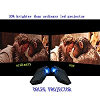 Projector, DOLEE 1500 Luments 1080P Mini Projector ,Multimedia Home Theater Support Outdoor Indoor Movies TV Games 4IN LCD Big Screen Video Projector from DOLEE